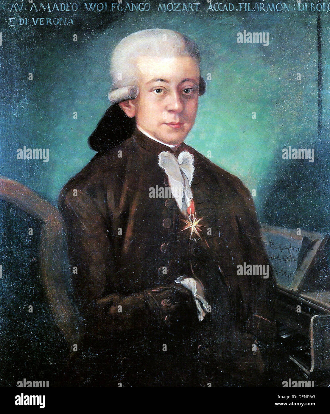 Wolfgang Amadeus Mozart, composer as a boy - Stock Image