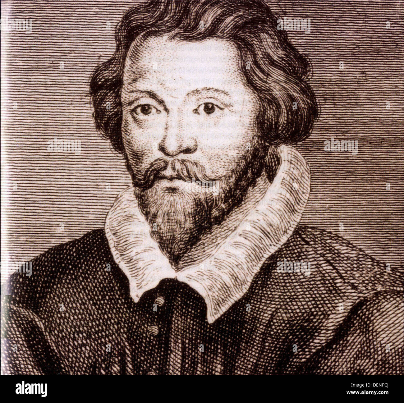 William Byrd, English composer of the Renaissance - Stock Image