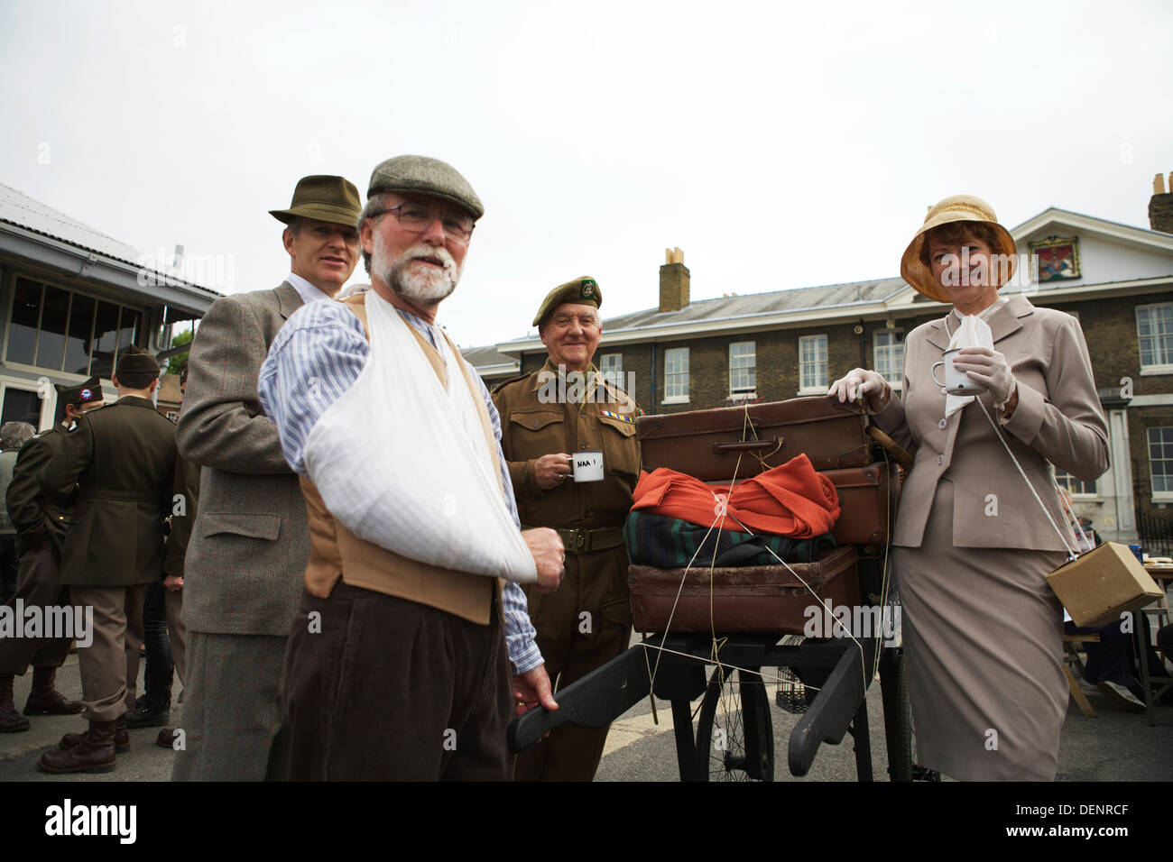 Chatham, UK. 21st Sep, 2013. Salute to the 40's - Britain's 1940's Home Front Event at The Historic Dockyard Chatham. - Stock Image