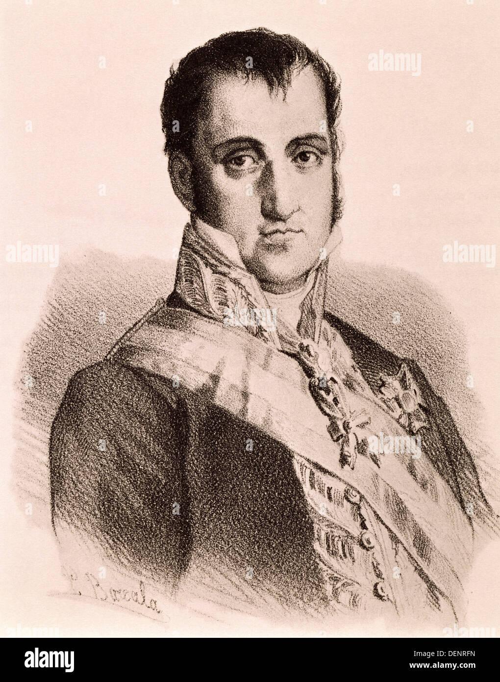 Ferdinand VII (1784-1833), King of Spain Stock Photo