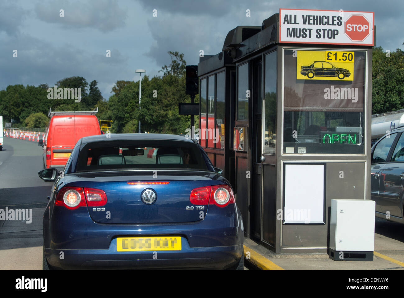 Toll booth on the Humber bridge - Stock Image