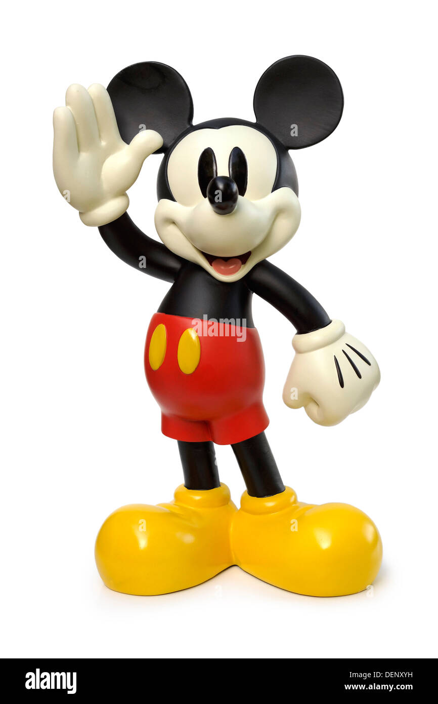 Mickey Mouse Character Waving, Souvenir, Figurine, Disney - Stock Image