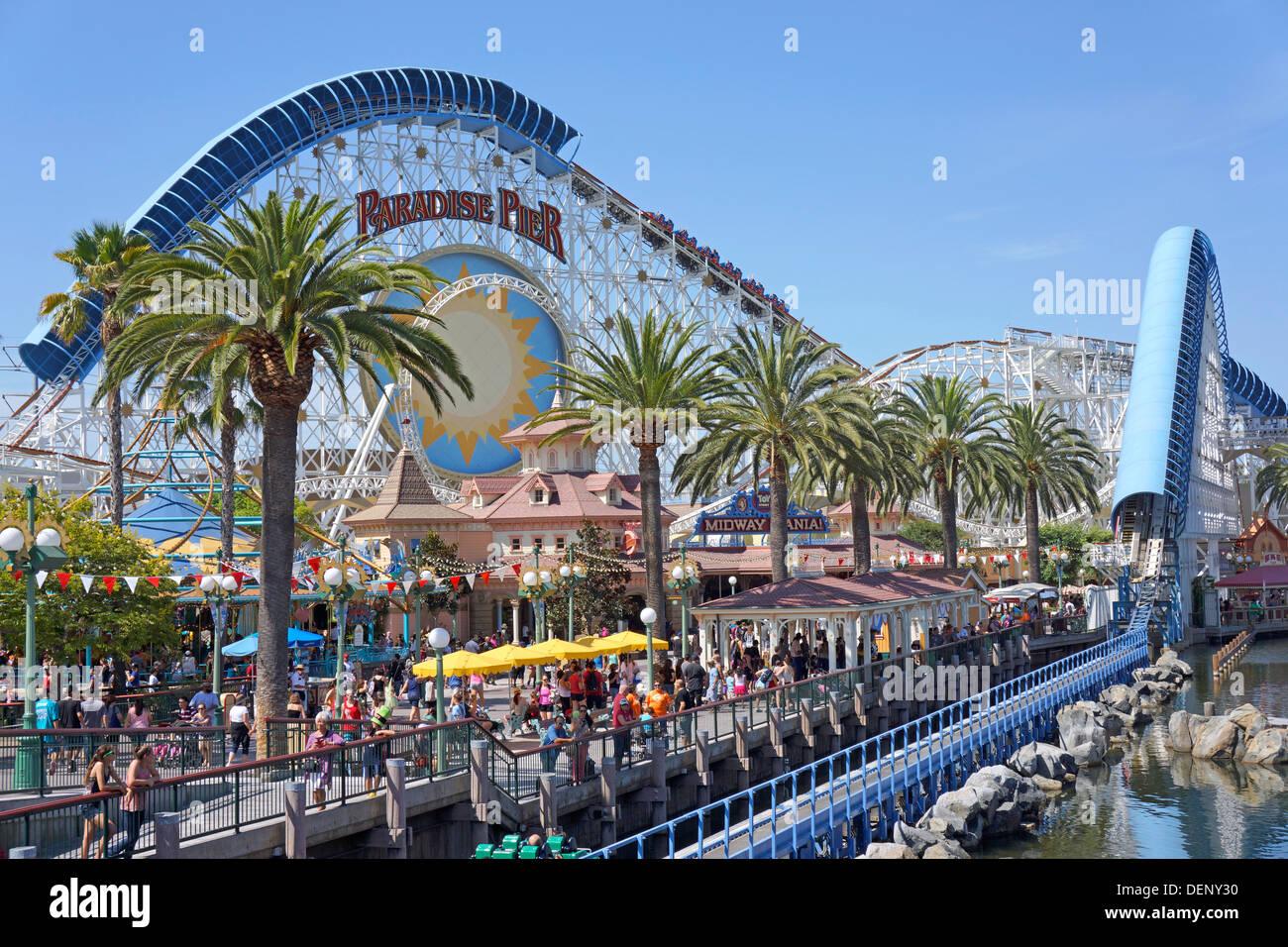 Disneyland Paradise Pier, California Adventure Park, Anaheim California - Stock Image