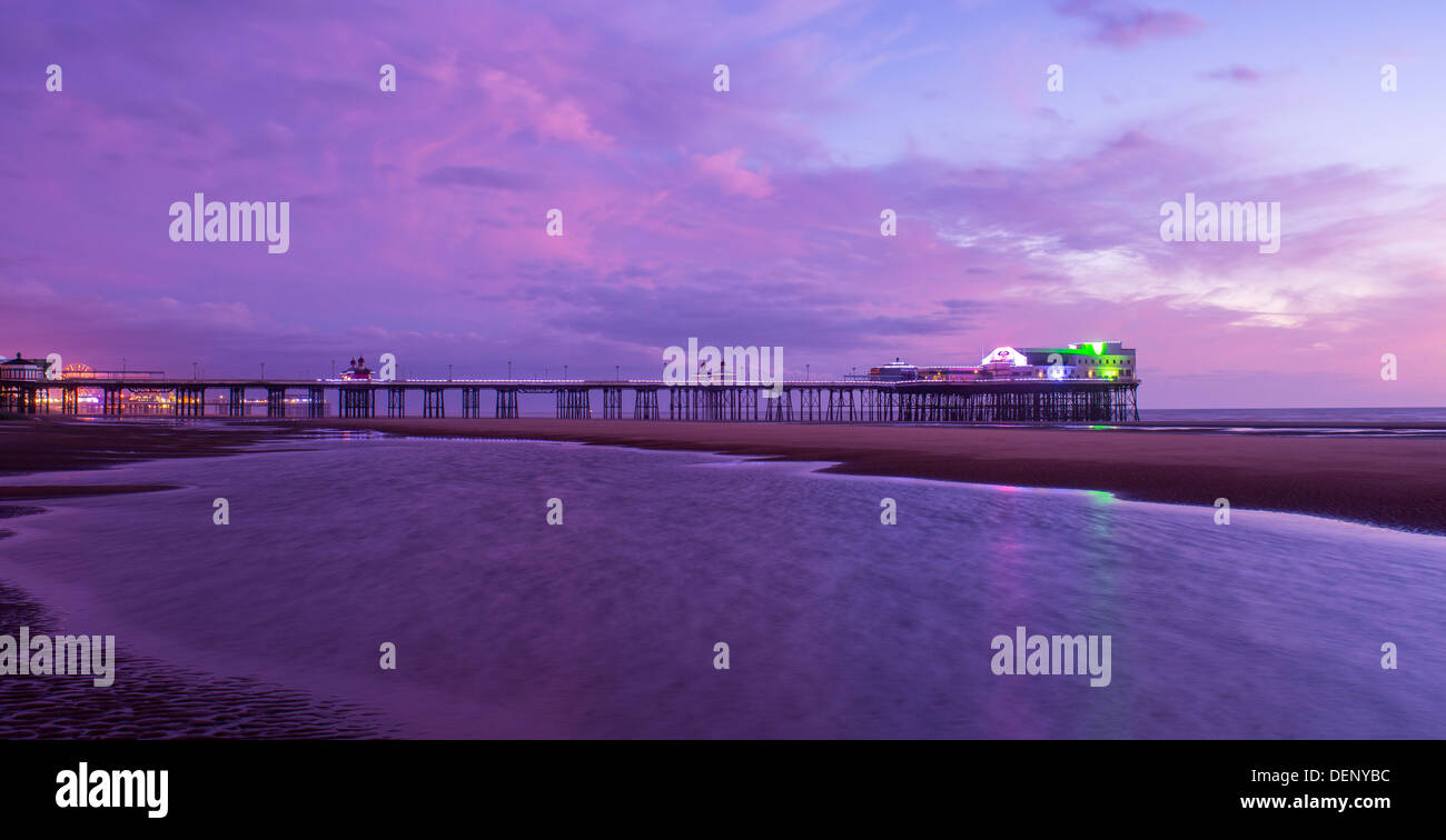 north pier; blackpool; lancs; england; uk; - Stock Image