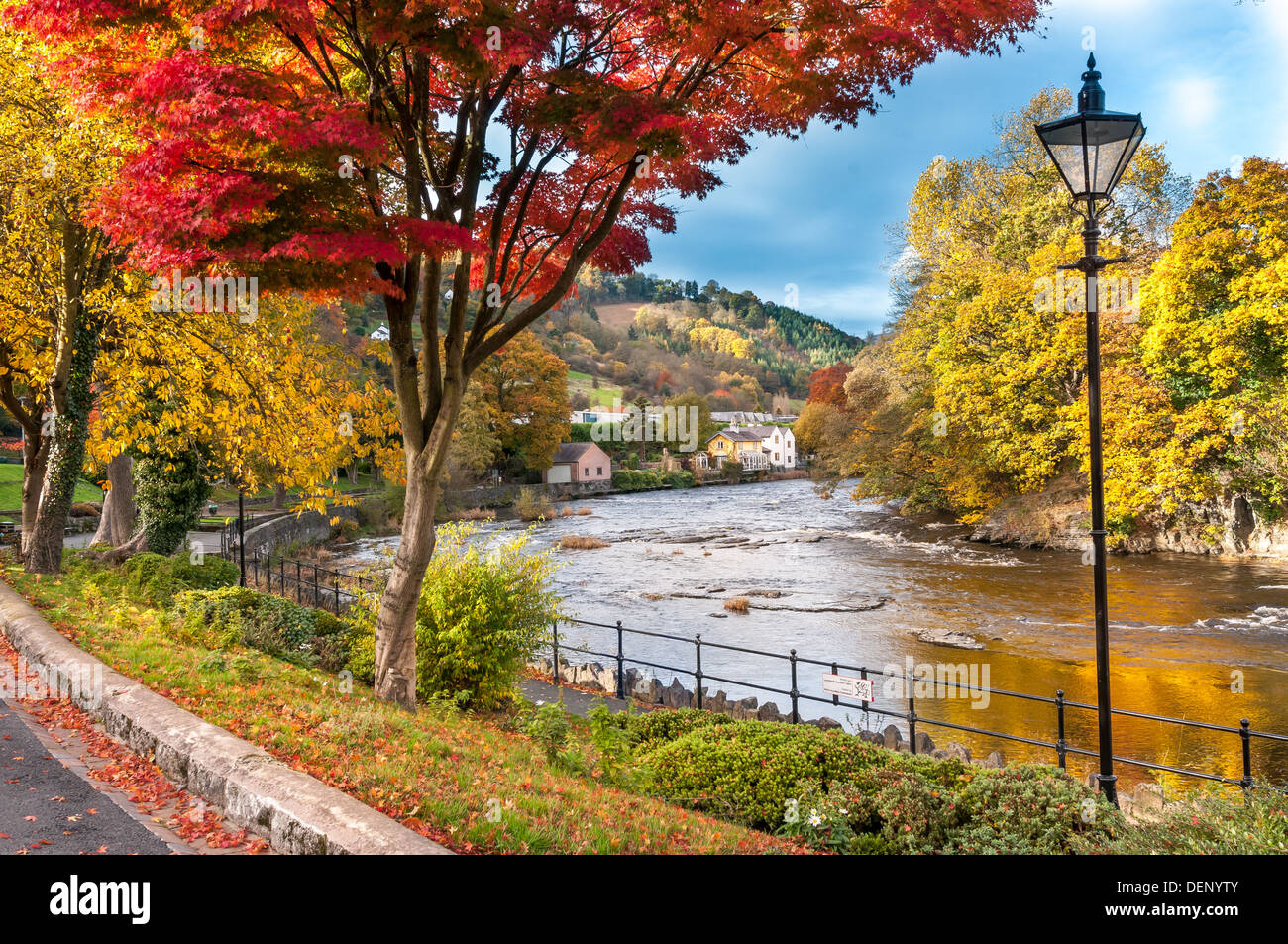 River Dee at llangollen in Denbighshire North Wales Stock Photo