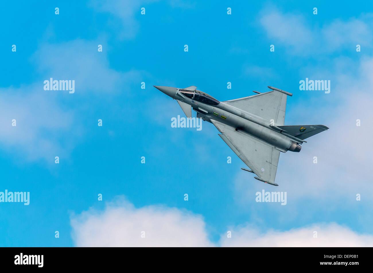 Eurofighter; Typhoon F2; Royal Air Force;Biggin Hill Airshow; Biggin Hill; Kent; England; UK; Europe; Stock Photo