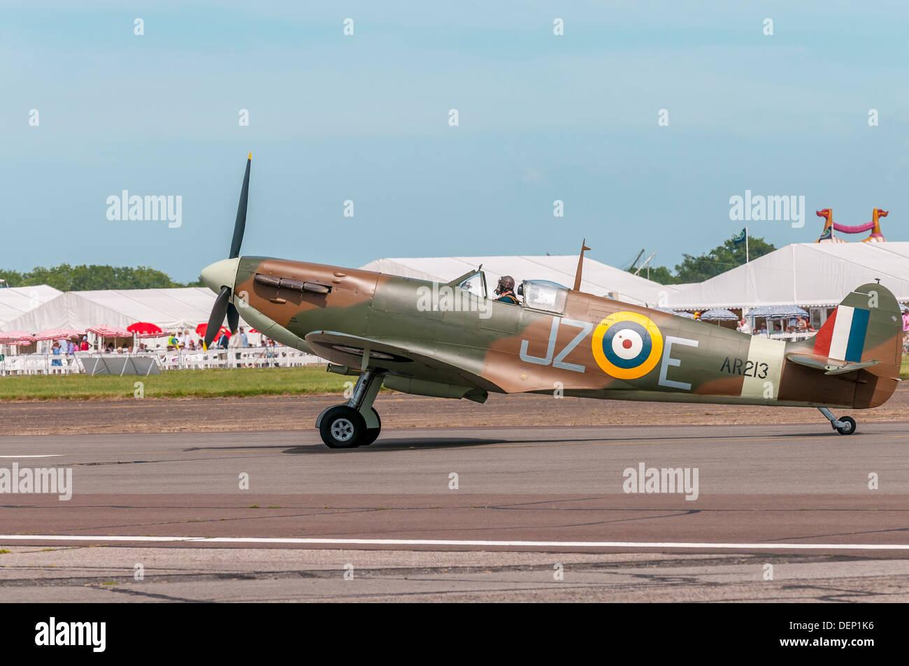 spitfire,Biggin Hill Airshow; Biggin Hill; Kent; England; UK; Europe; - Stock Image