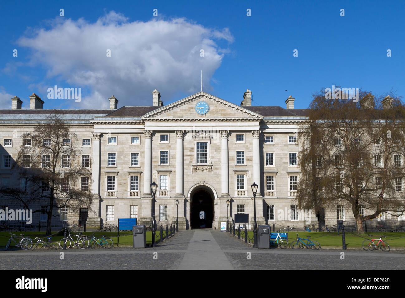 Trinity College in Dublin Ireland - Stock Image