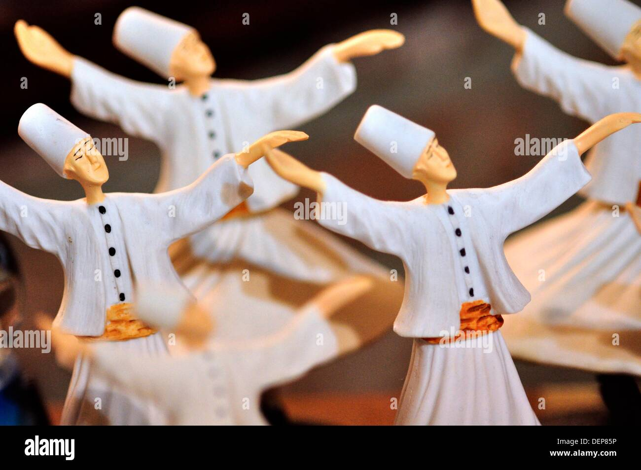 Turkey, Istanbul, Shop Display, Whirling Dervish Souvenirs - Stock Image