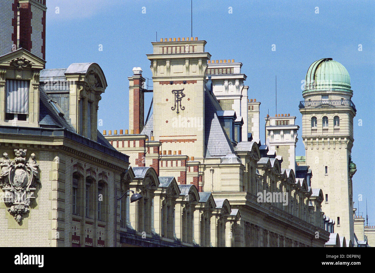 Tower with Observatory at the Sorbonne University, Paris, France Stock Photo