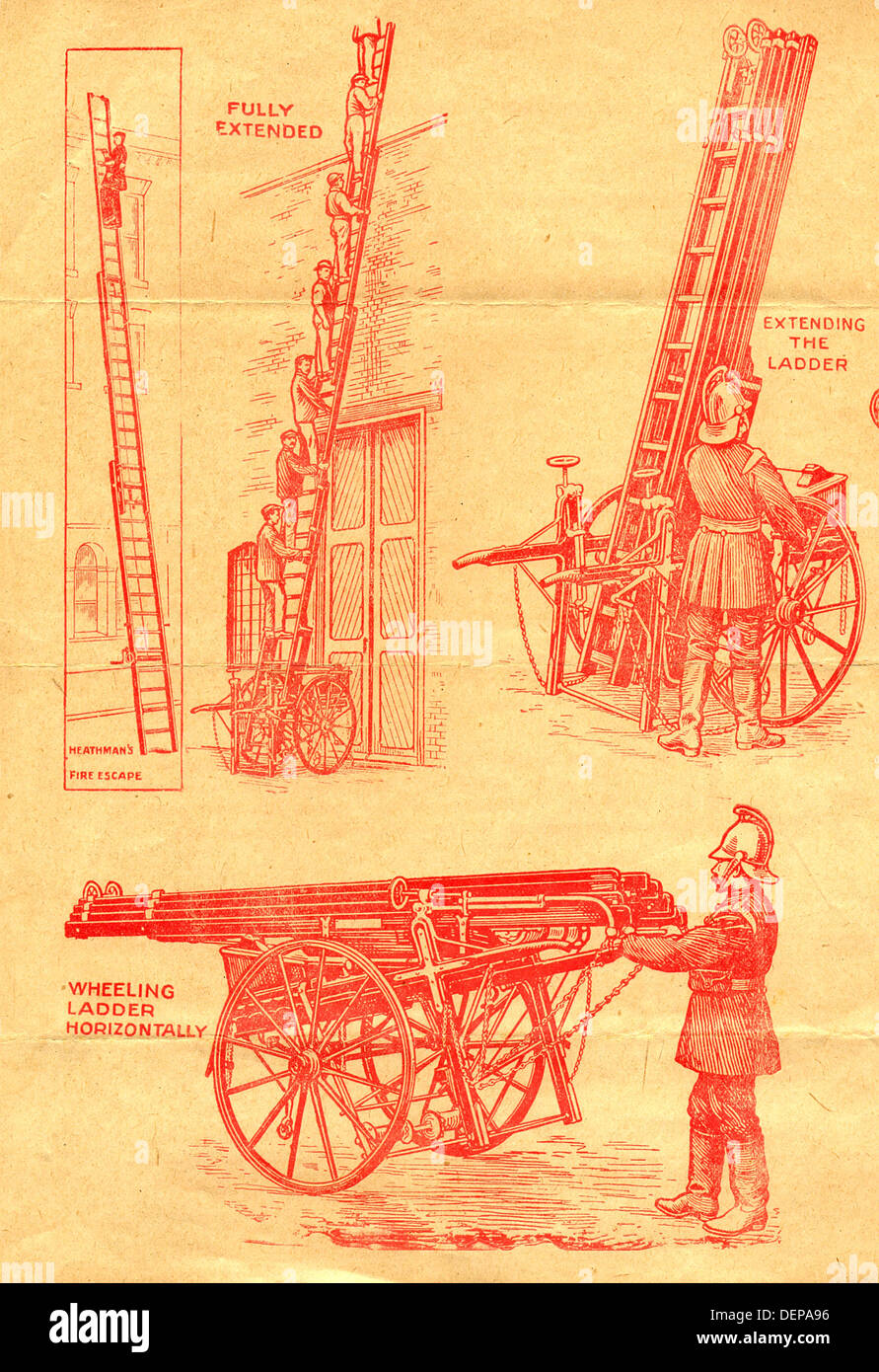 Advertisement for Heathman's Derby Type Wheeled Fire Escapes - Stock Image
