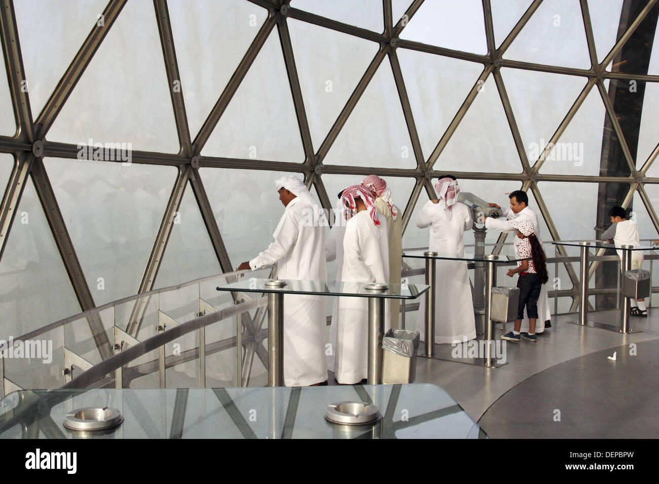 visitors in Kuwait Towers Stock Photo