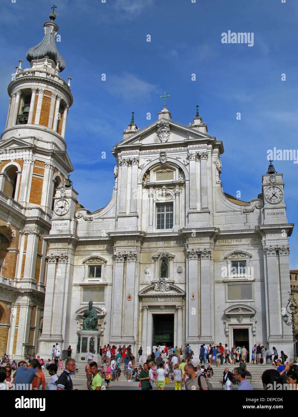 Loreto.The Shrine of the Holy House or basilica of the Santa Casa. - Stock Image