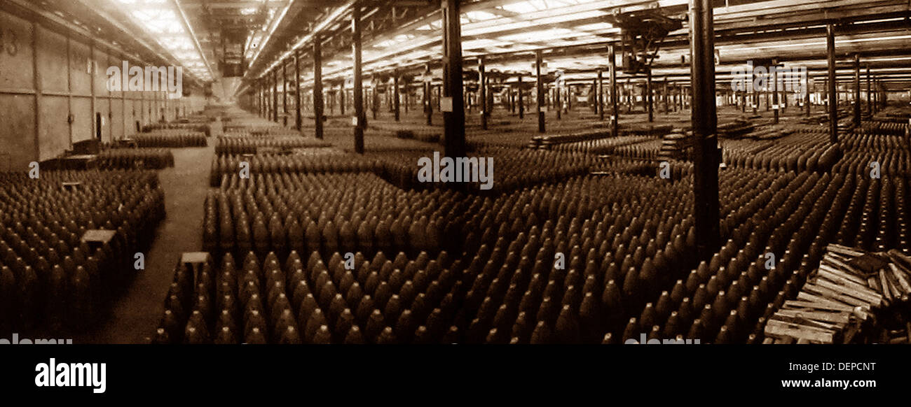 Munitions factory during WW1 - Stock Image