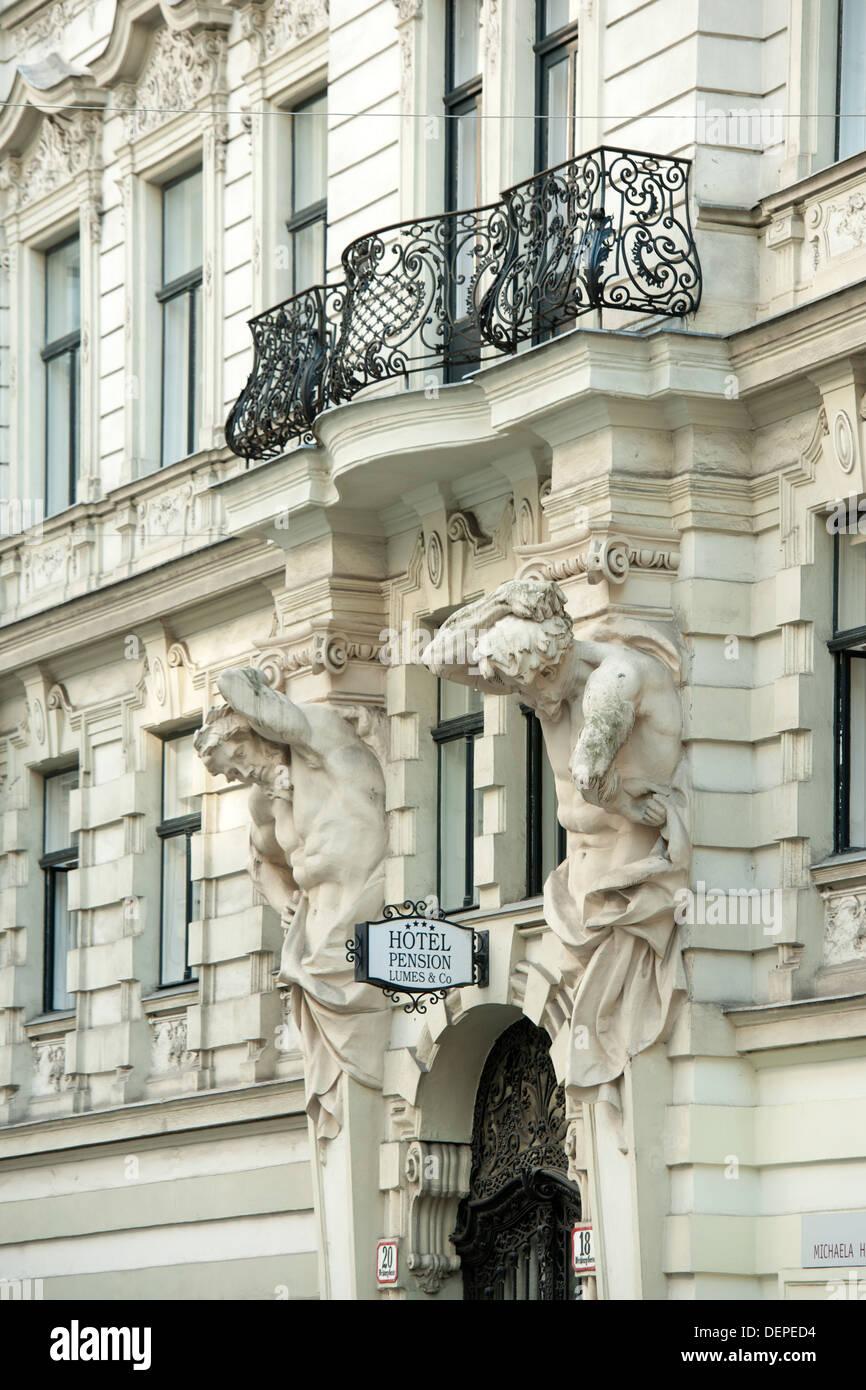 Österreich, Wien 1, Hotel Pension Lumes, Weihburggasse 18-20 - Stock Image
