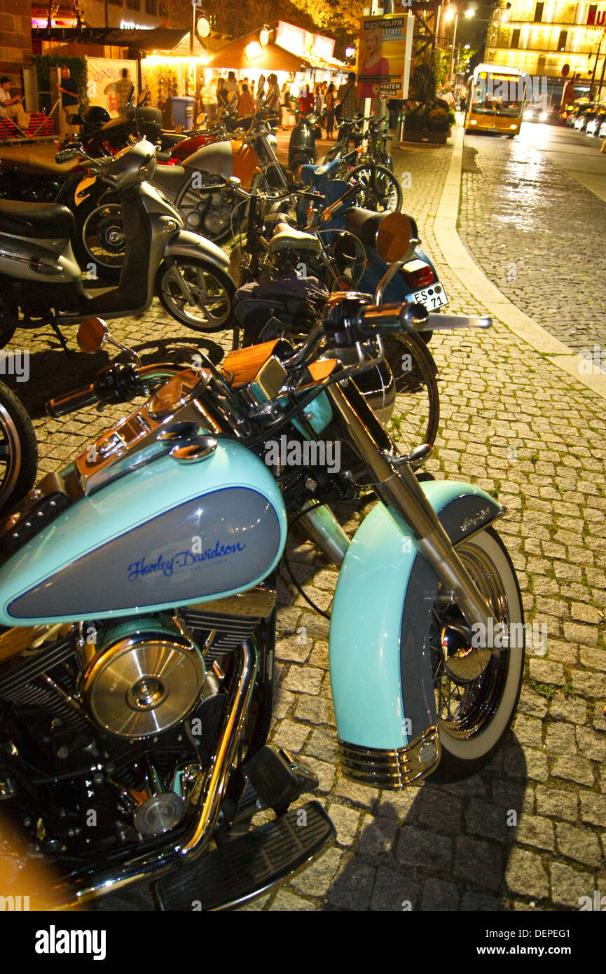 Harley-Davidson Heritage Softail Classic motorcycle in suede blue