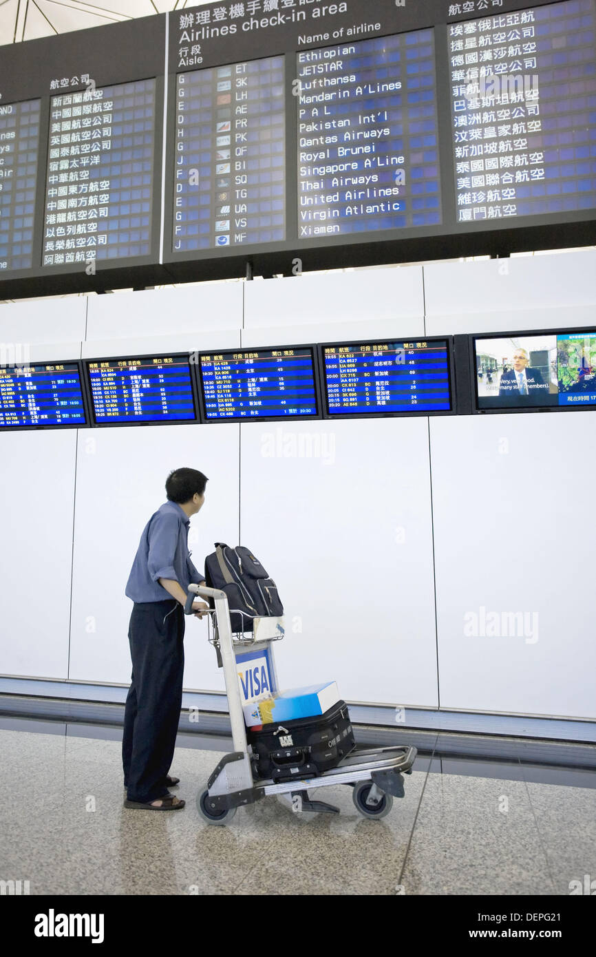 Hong Kong Chek Lap Kok International Airport, Hong Kong, China - Stock Image