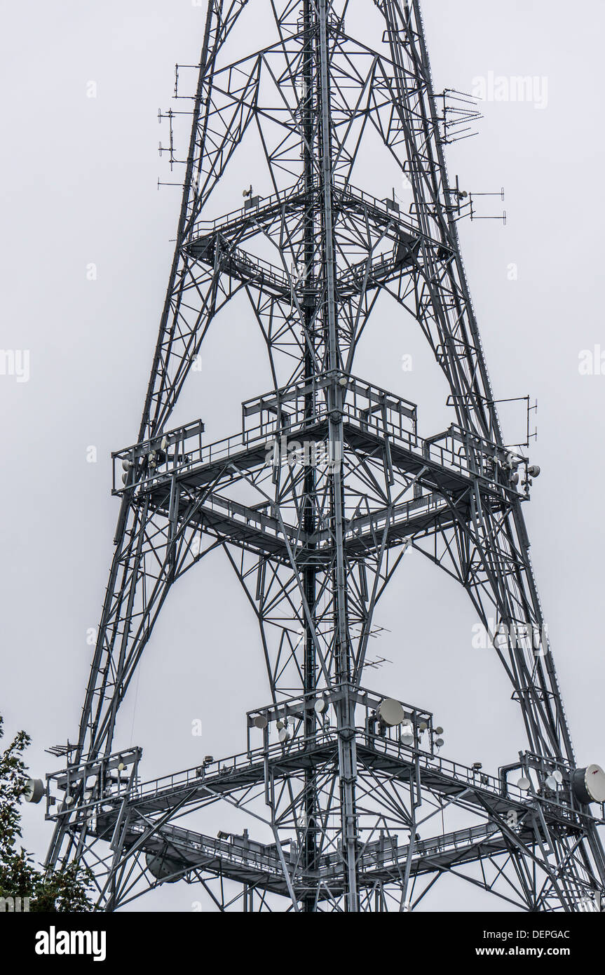 Crystal Palace transmitter - the main television transmitter for the Greater London and Home Counties areas, England, UK - Stock Image