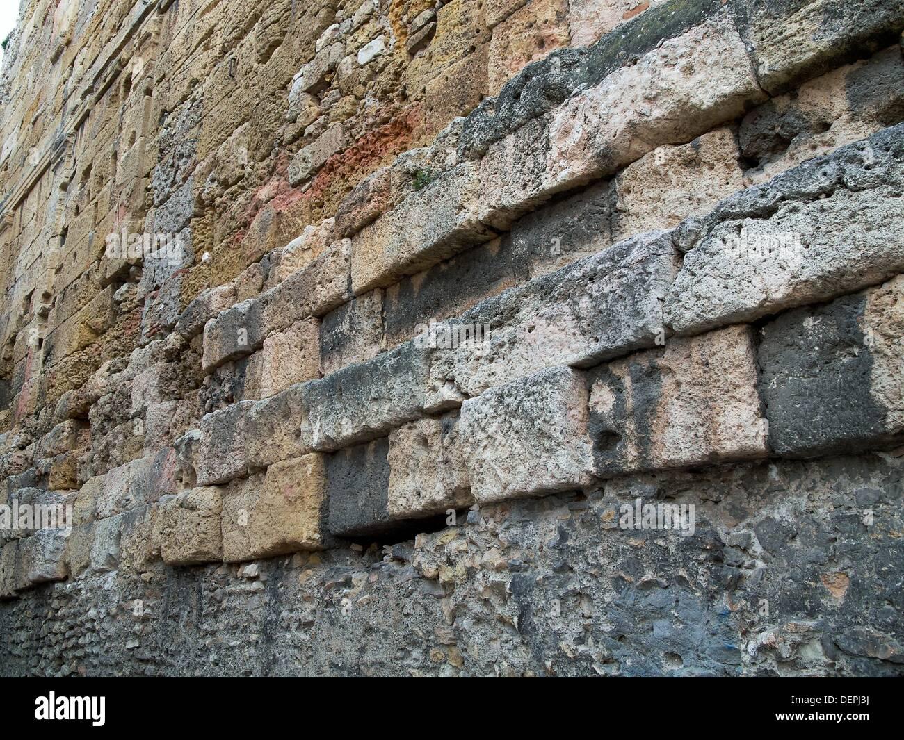 -Tarraco´s Walls- Catalonian, Spain. - Stock Image