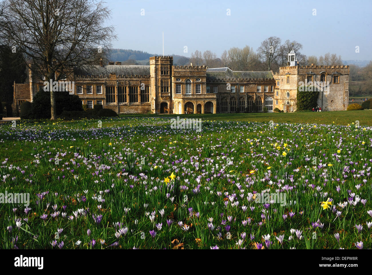 a view of forde abbey dorset in the spring uk stock image