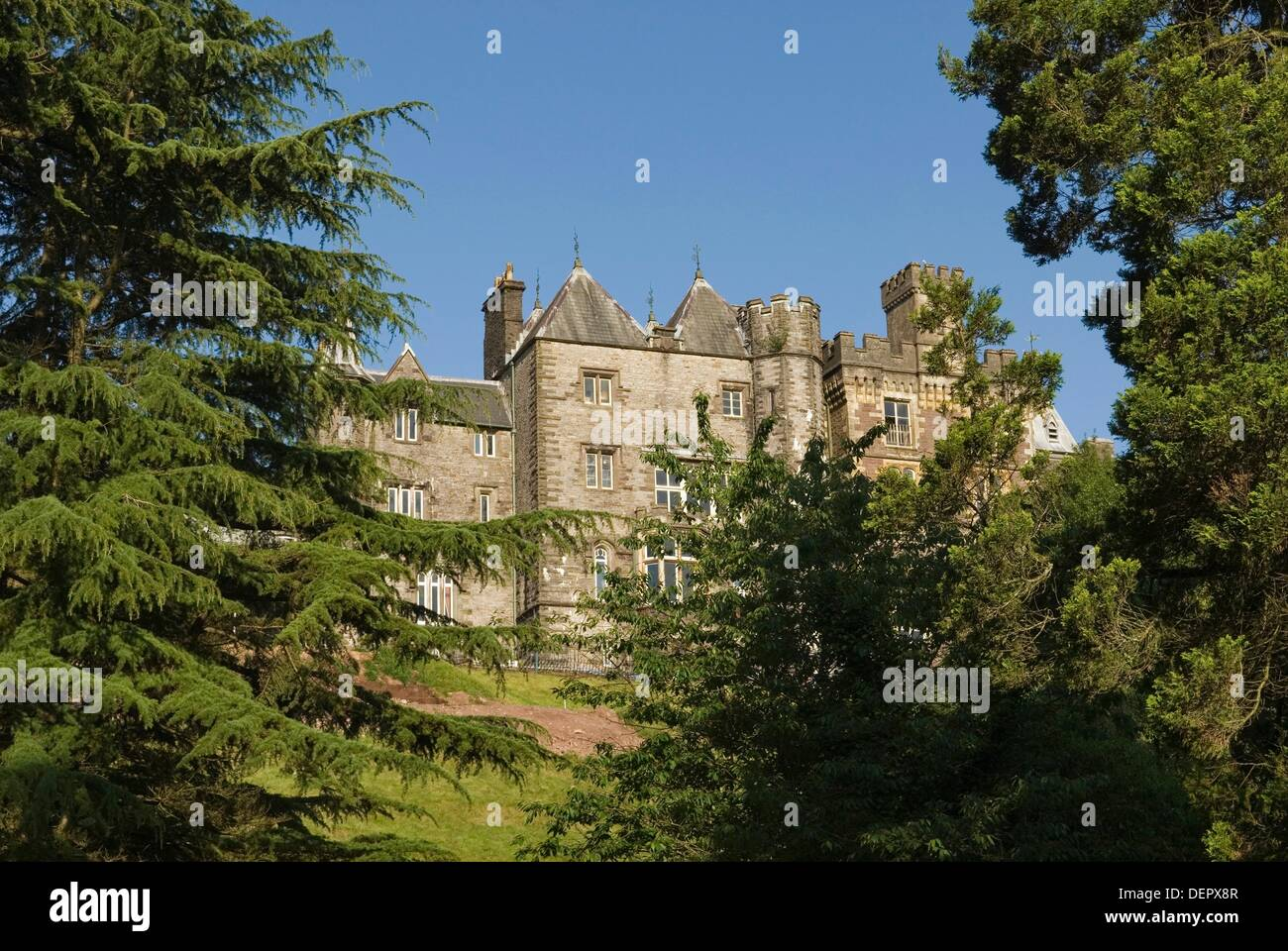 Craig-y-Nos Castle,Wales,United Kingdom,Great Britain,Europe - Stock Image