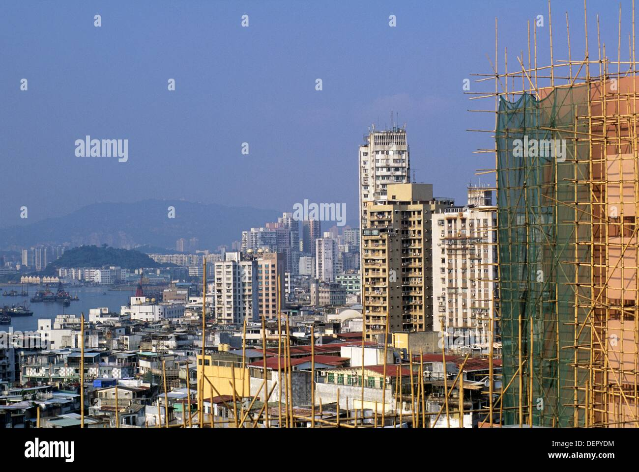 skyscaper under construction, Macau, Special Administrative Region, China, Asia - Stock Image