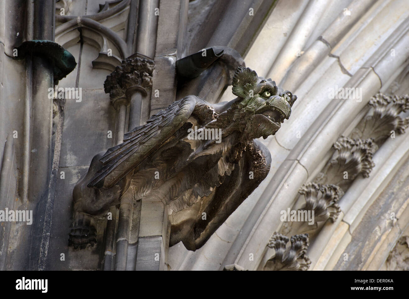 Gargoyle Water Spout On The Outside Of Cologne Cathedral Germany