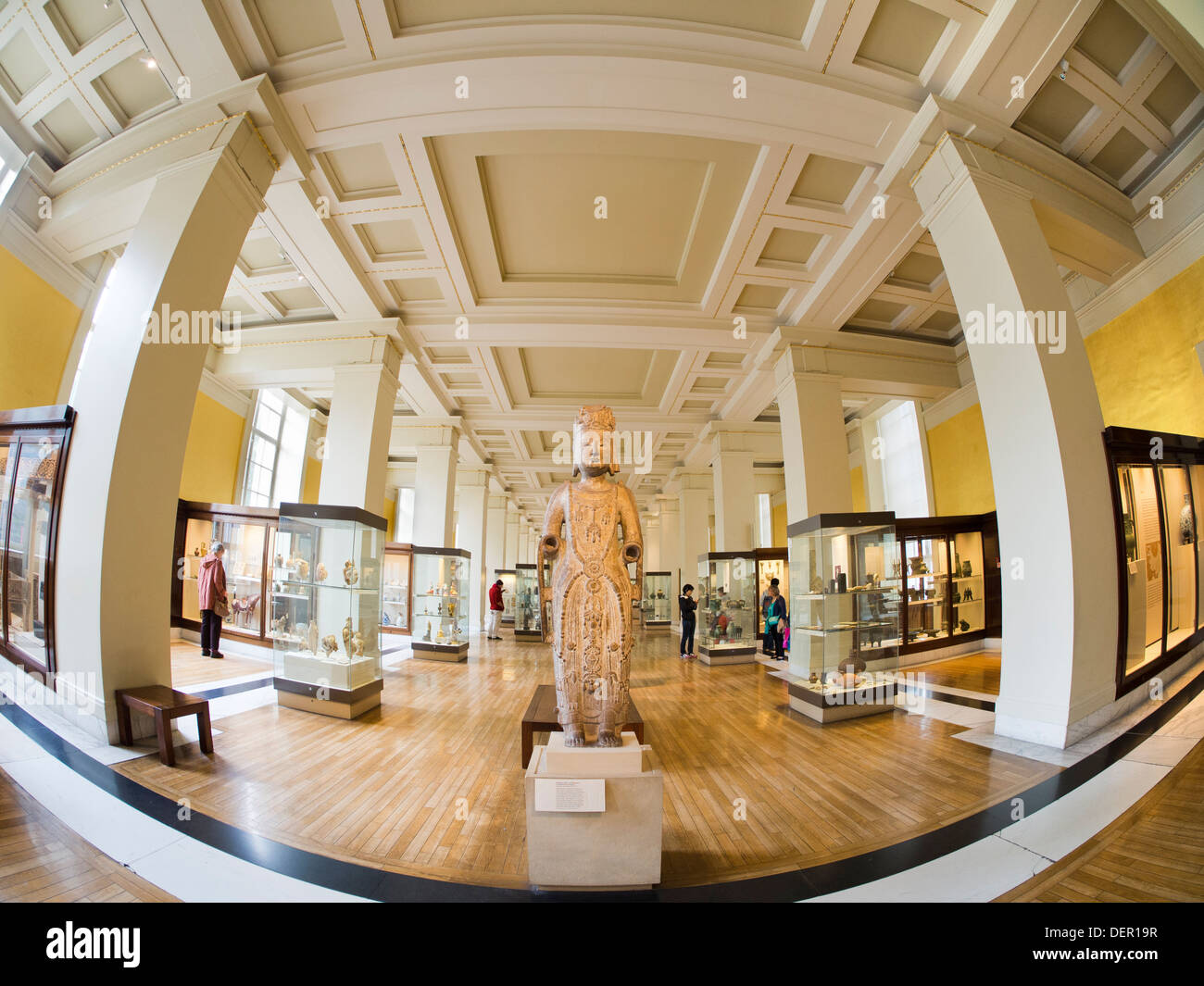 The British Museum, London - gallery of Asian and Chinese antiquities - Stock Image
