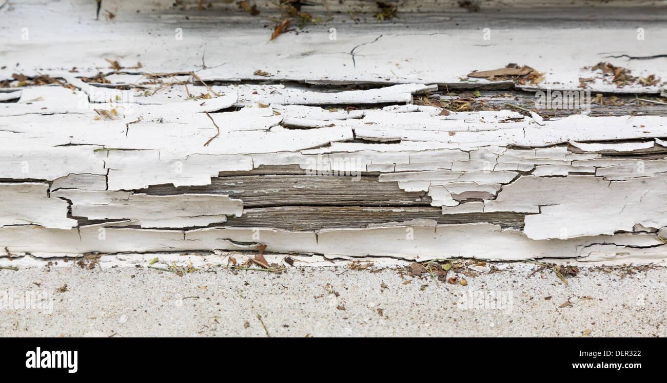 Peeling old white paint on wooden window frame Stock Photo: 60743594 ...