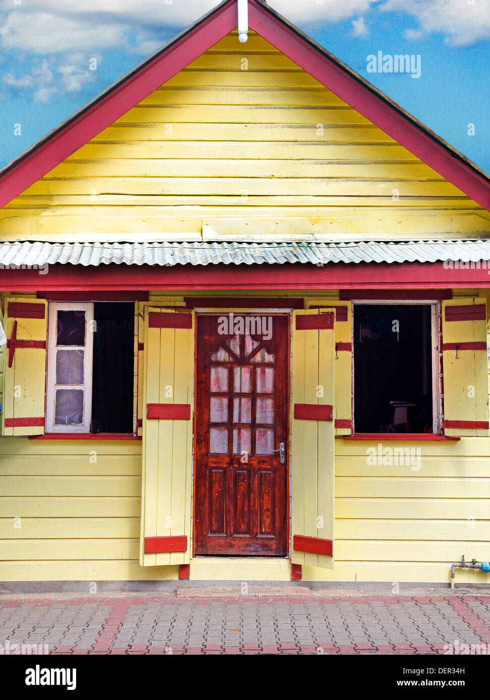 STREETSCENE ,CASTRIES,ST.LUCIA,WEST INDIES,CARIBBEAN - Stock Image