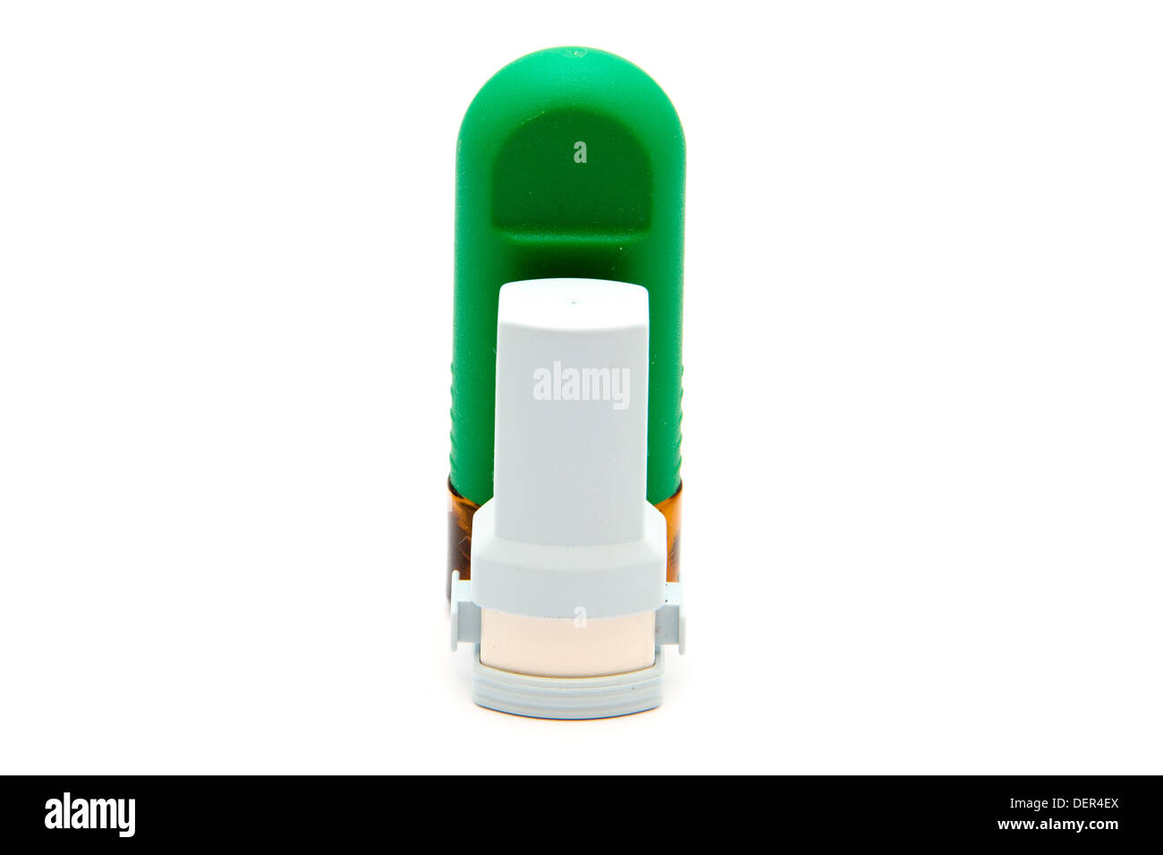 Asthma Inhaler with Nasal Spray Stock Photo