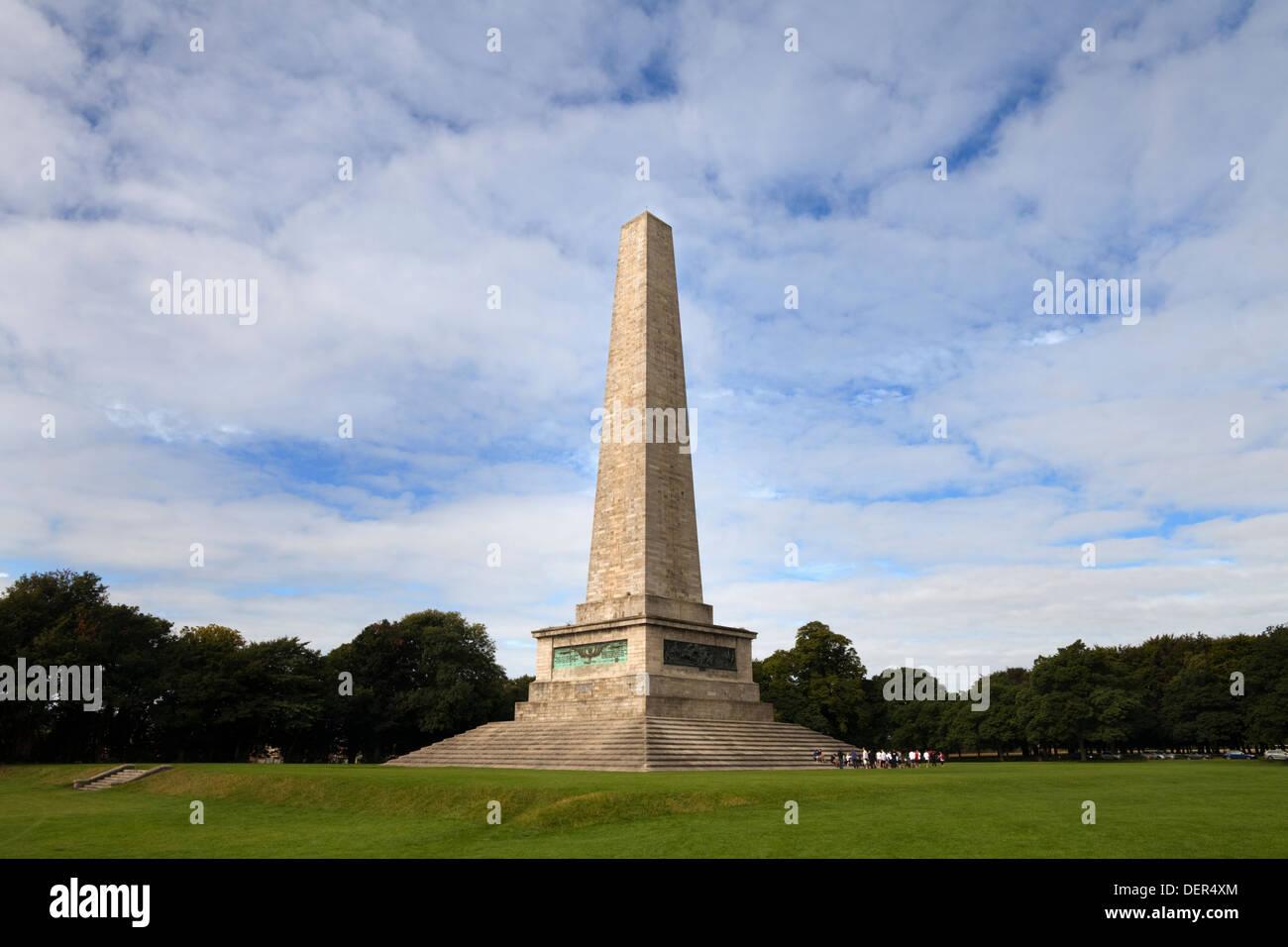 The Wellington Monument obelisk, The Phoenix Park, Dublin, Ireland. - Stock Image