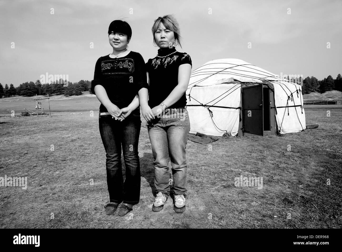Huihe village, Inner Mongolia, China - Stock Image