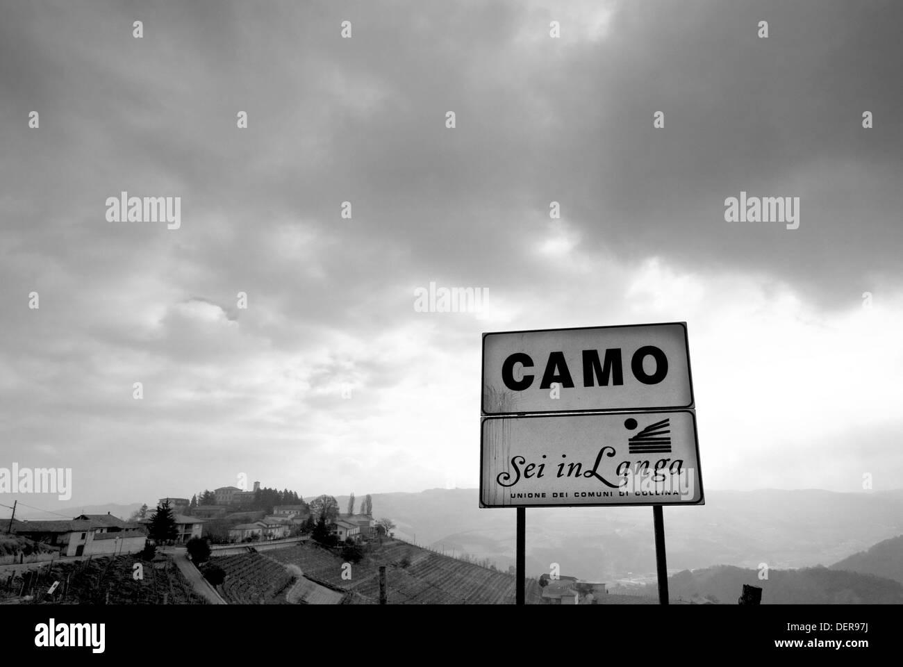 Camo, Montferrat, Piedmont, Italy - Stock Image