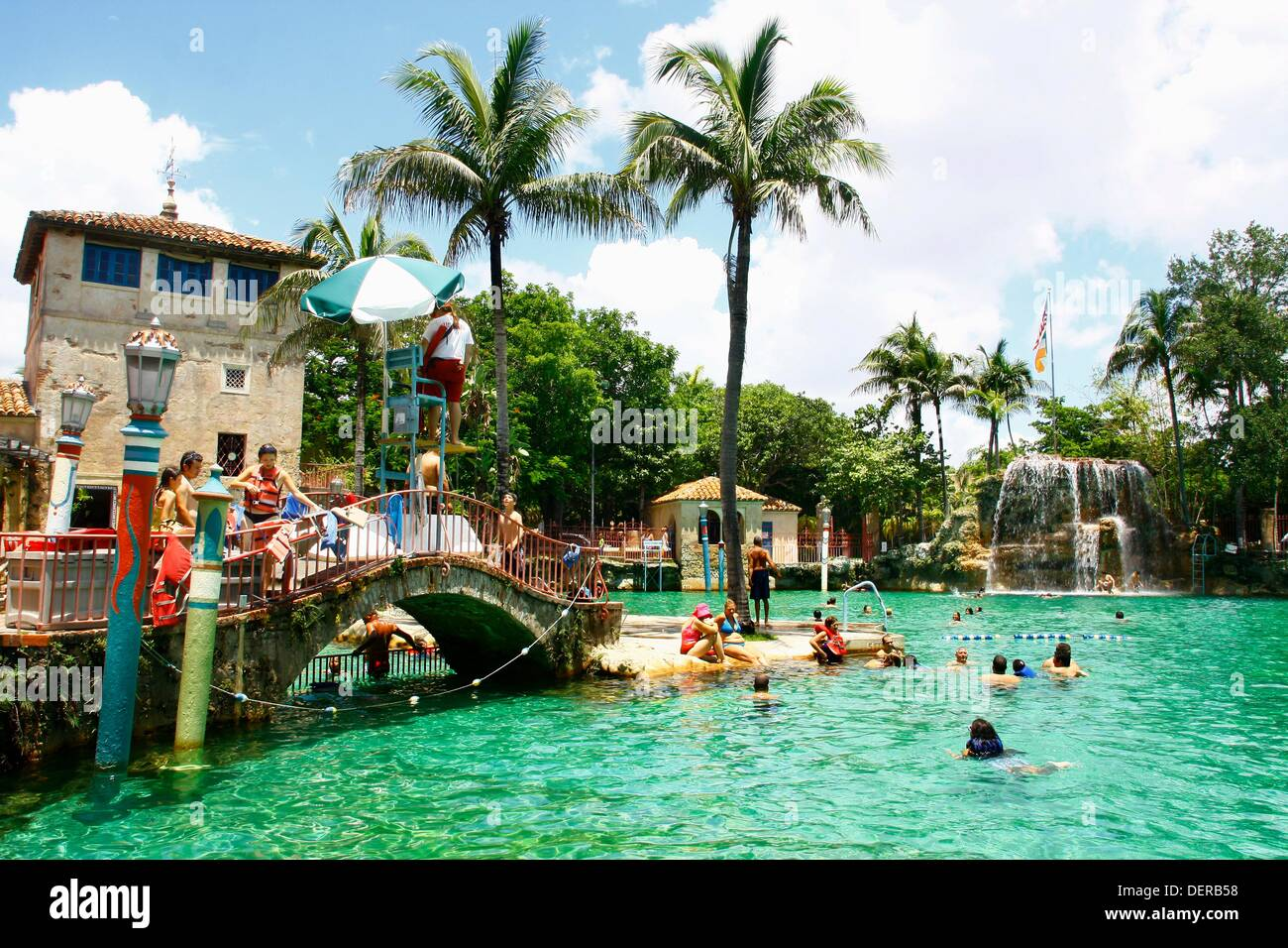 Venetian Pools, Coral Gables, Miami, Florida, USA - Stock Image