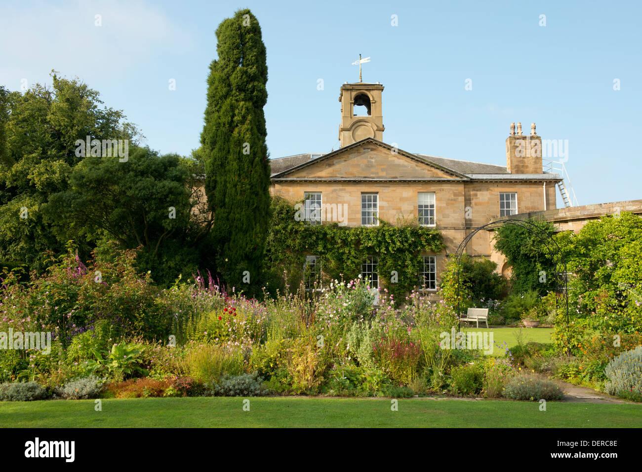 The garden at Howick Hall, Alnwick, Northumberland, UK - Stock Image