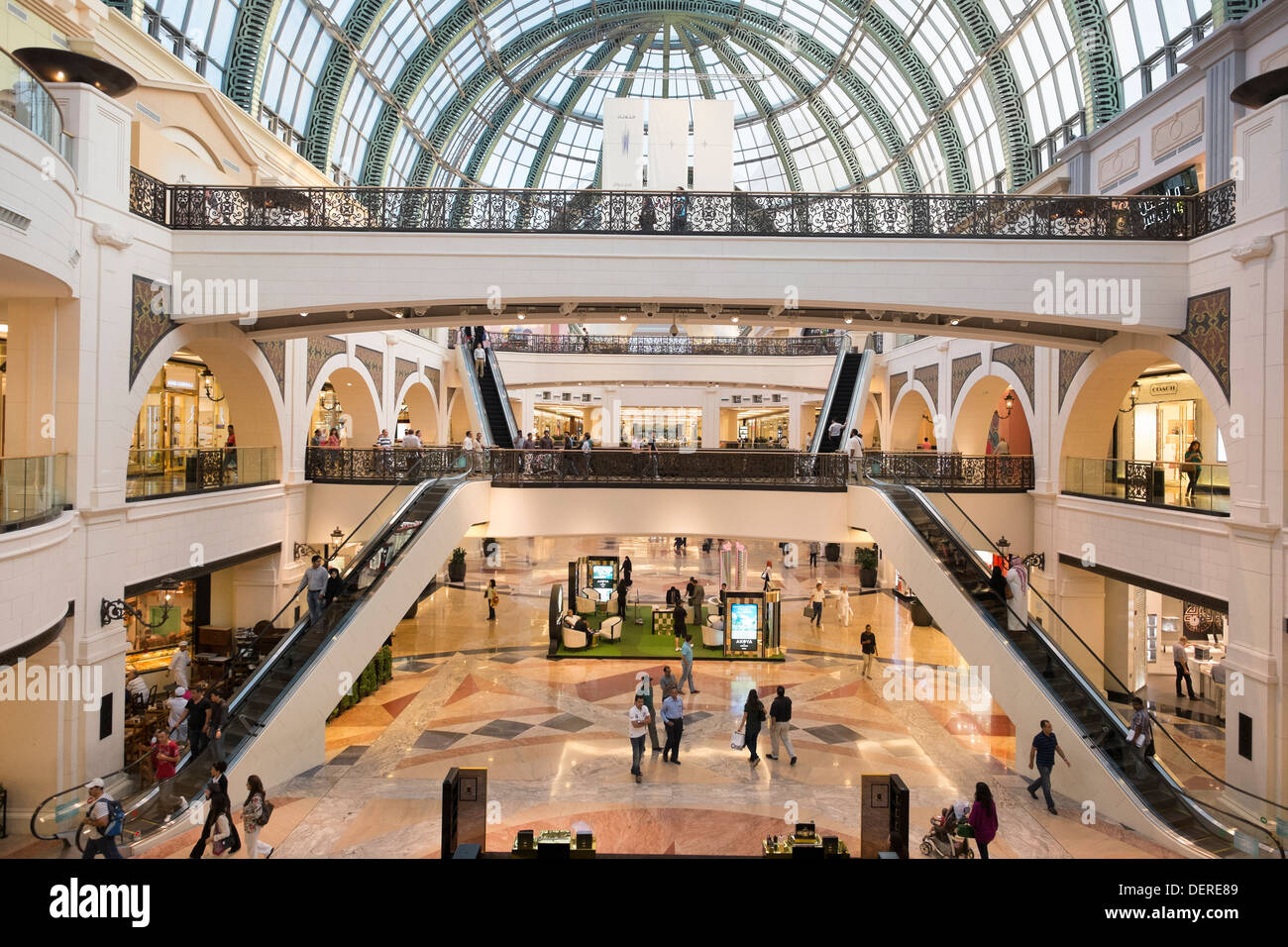 Interior of Mall of the Emirates shopping centre in Dubai United Arab Emirates - Stock Image