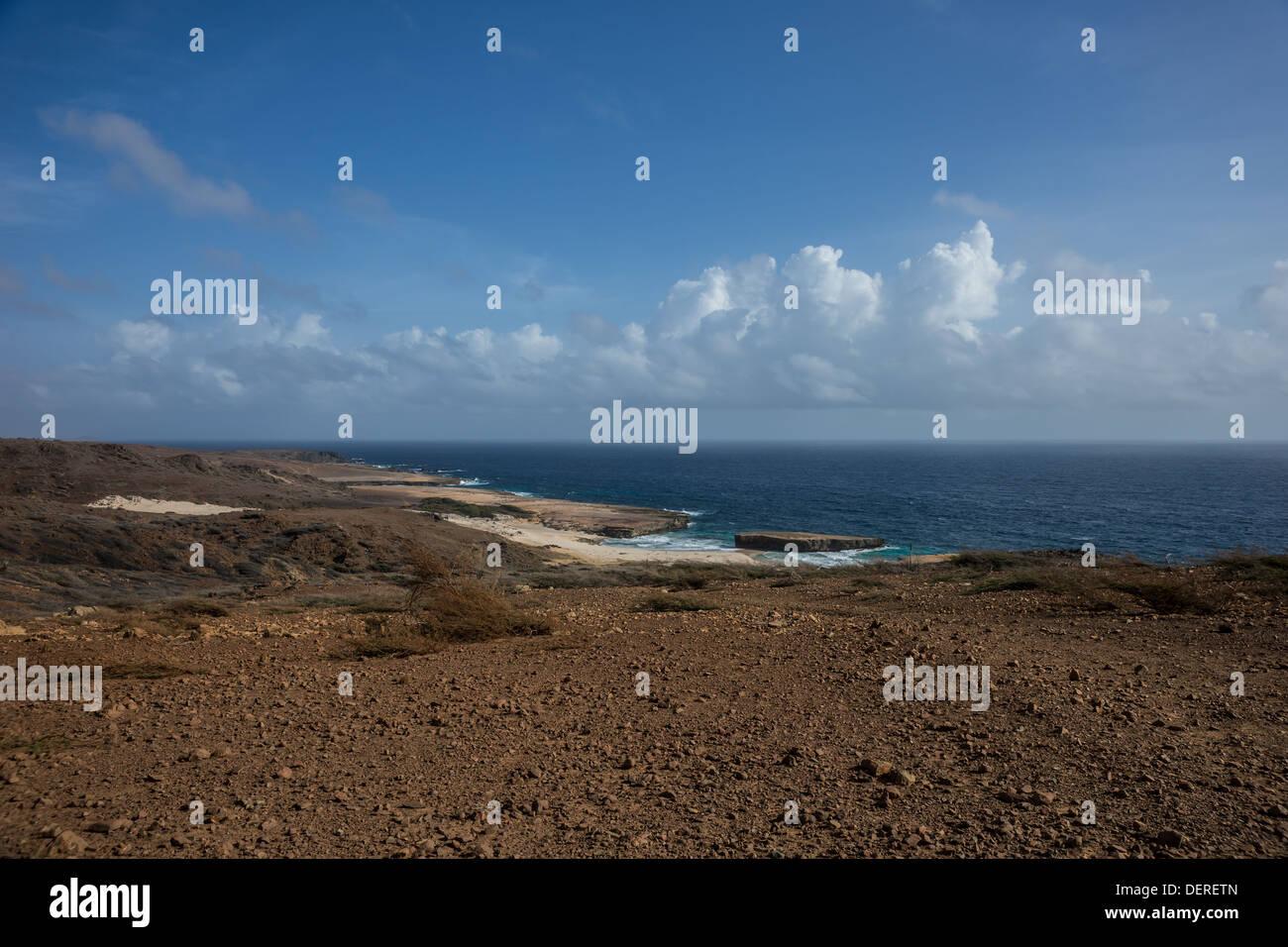 Aruba northeast desert coastline - Stock Image