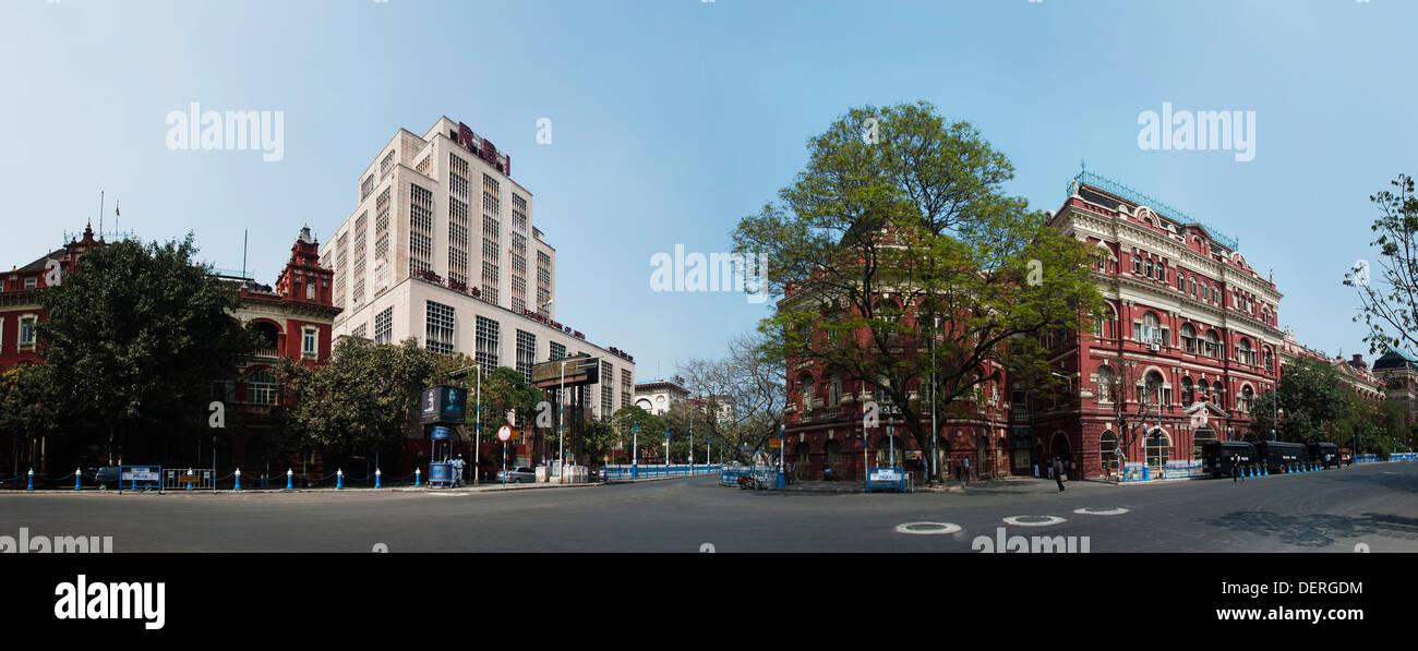 Writers Building and RBI building, Kolkata, West Bengal, India - Stock Image