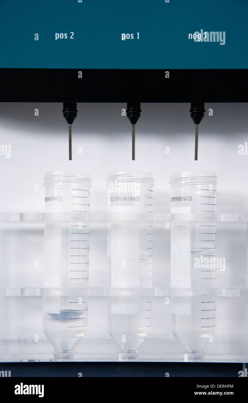 AutoMacs cell separator culture room biopharmaceutical lab development and production of innovative drugs using adult stem - Stock Image