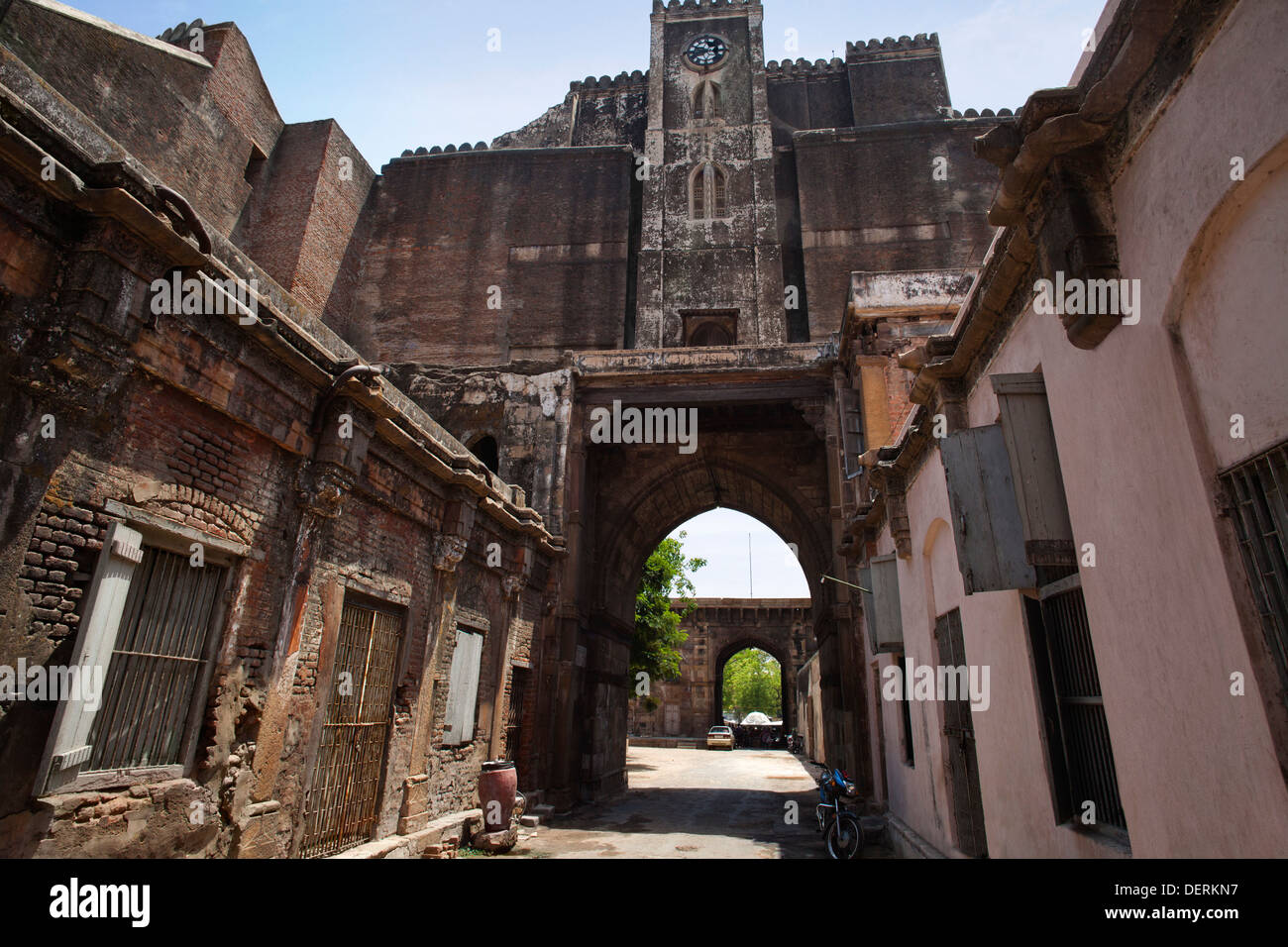 Archway at the fort, Bhadra Fort, Ahmedabad, Gujarat, India - Stock Image