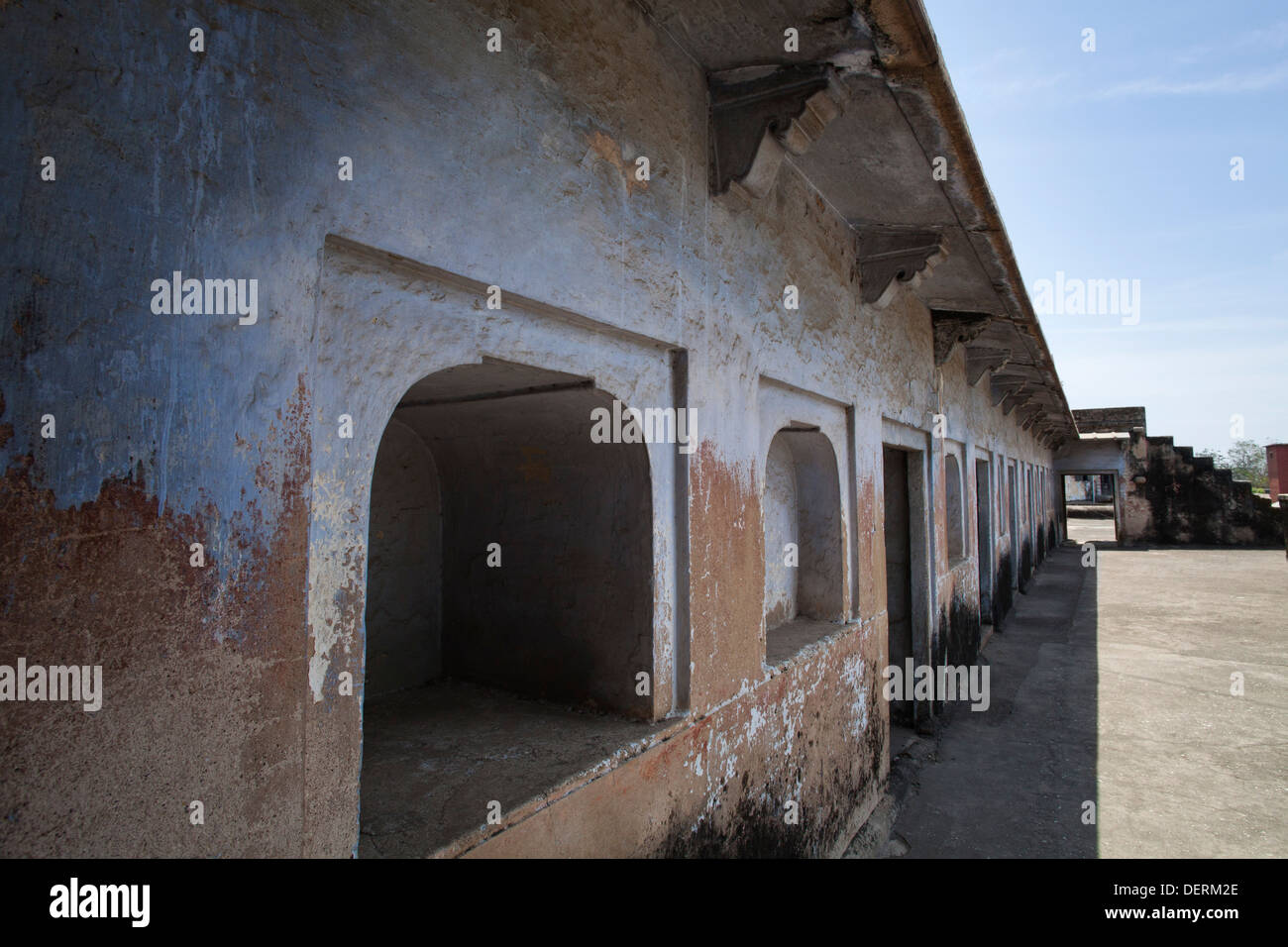 Ruins of a fort, Bhadra Fort, Ahmedabad, Gujarat, India - Stock Image
