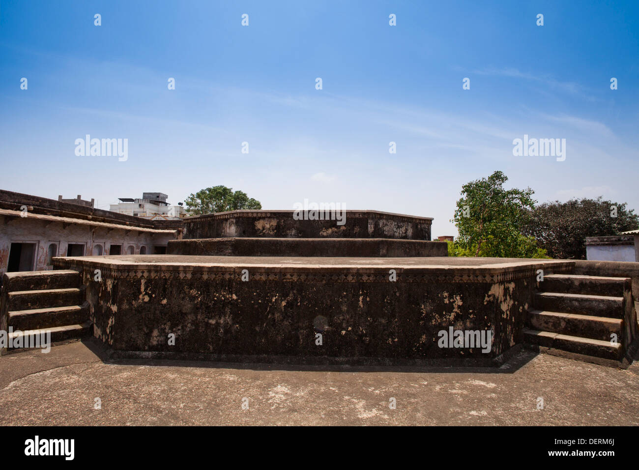 Ruins of a fort, Bhadra Fort, Ahmedabad, Gujarat, India - Stock Image