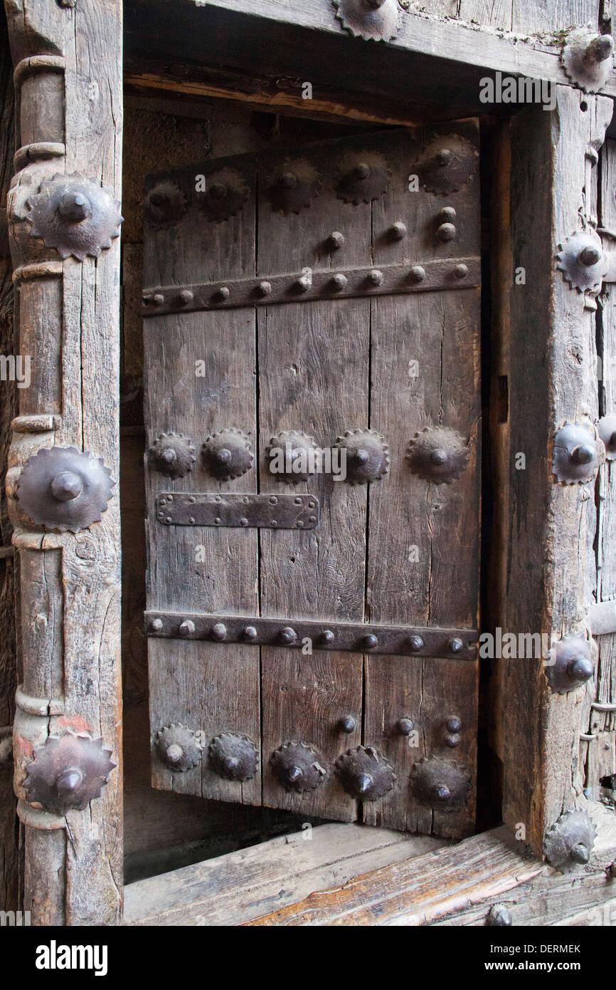Close-up of a window, Bhadra Fort, Ahmedabad, Gujarat, India - Stock Image