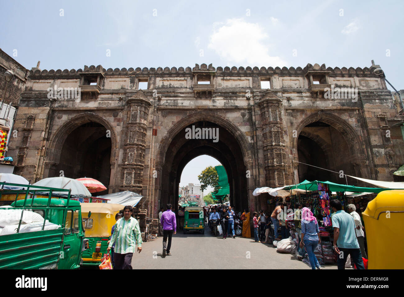 Teen Darwaza, Bhadra Fort, Ahmedabad, Gujarat, India - Stock Image