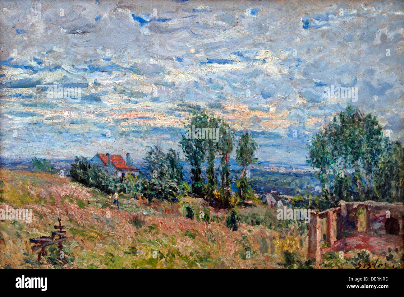 The Brickfield 1880 Alfred Sisley France French - Stock Image