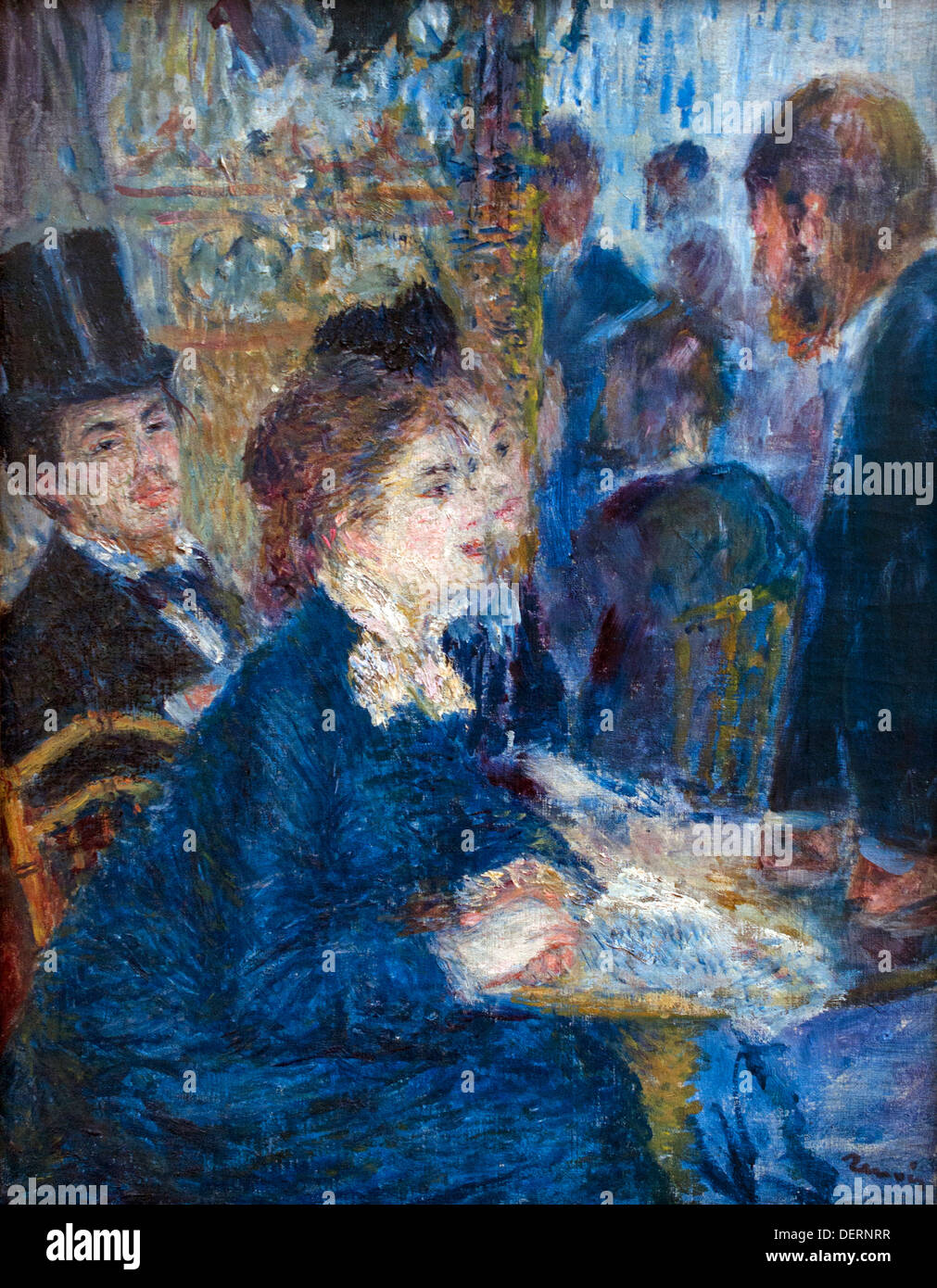 In the cafe 1877 Pierre Auguste Renoir 1841-1919 French Impressionist France - Stock Image