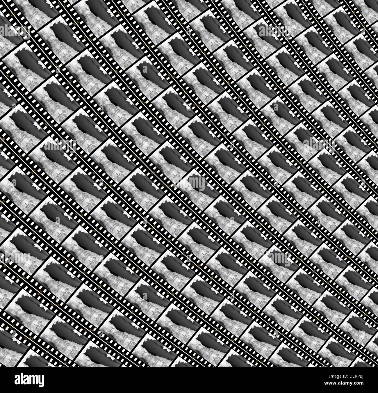 background from many blackly white photographic plates Stock Photo