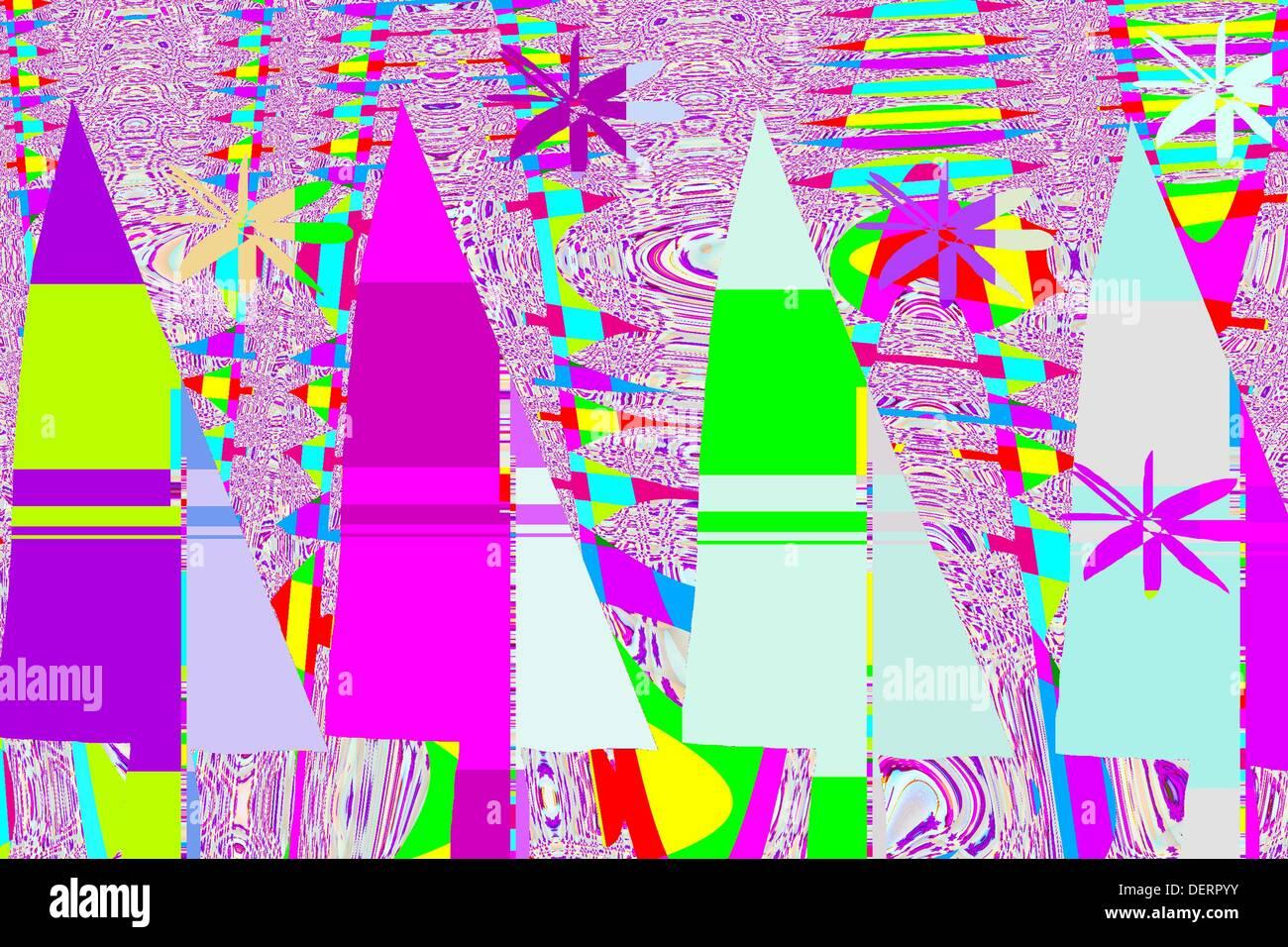 christmas abstract - Stock Image