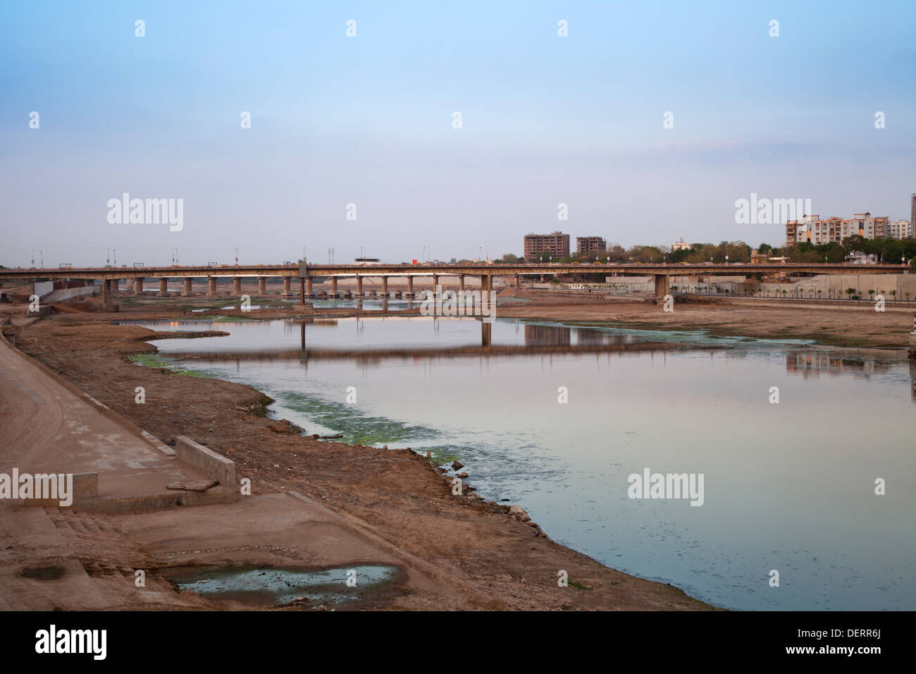 Sabarmati Riverfront, Ahmedabad, Gujarat, India Stock Photo